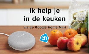 speciale assistent van albert heijn in Google home