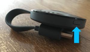 chromecast reset knop