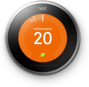 nest learning thermostat voor google home