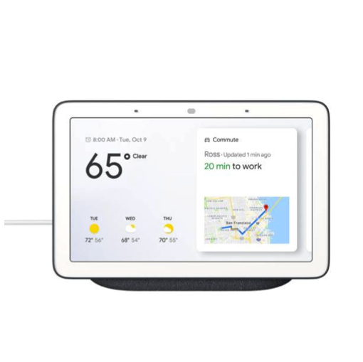 google home hub display