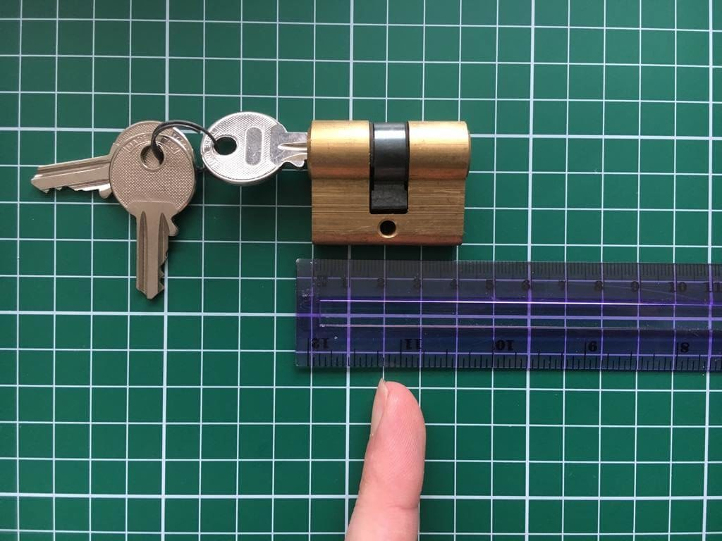 opmeten deurslotcilinder