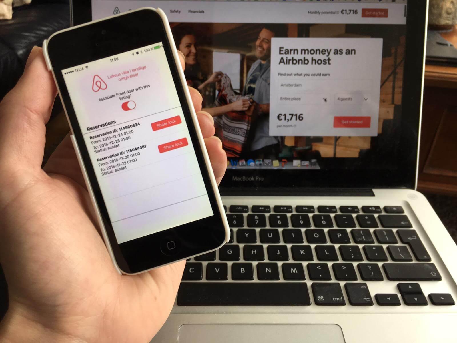 slimme deursloten airbnb