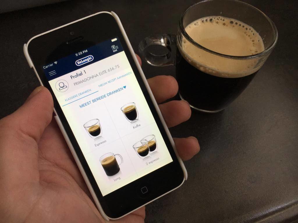 slim koffiezetten met app