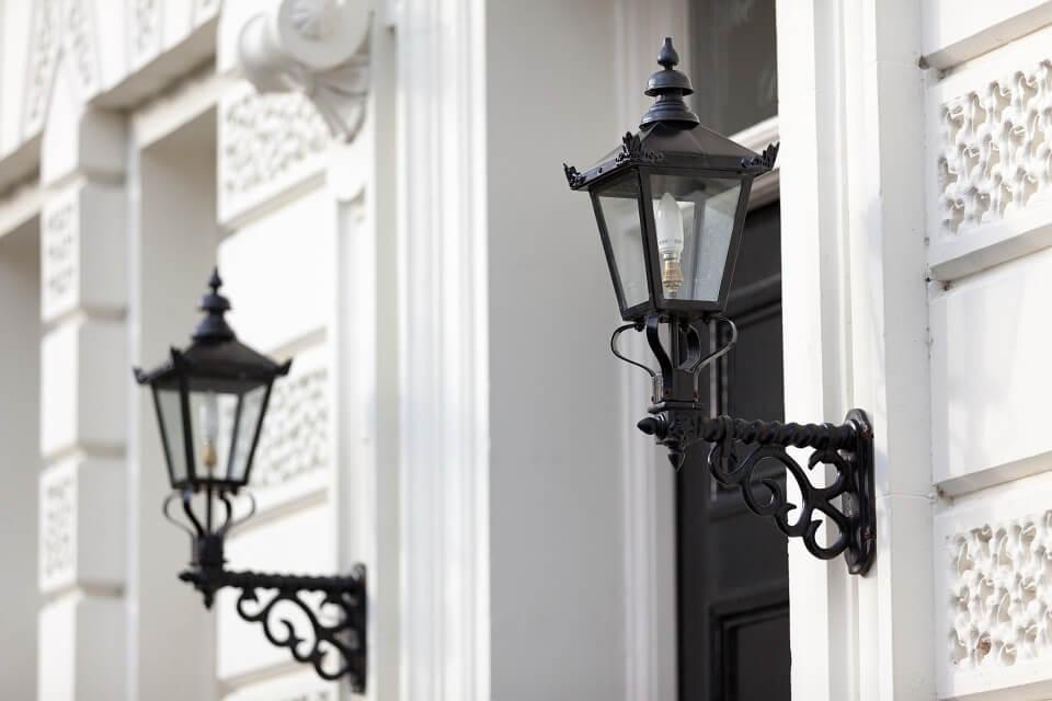 slimme lamp in buitenlamp