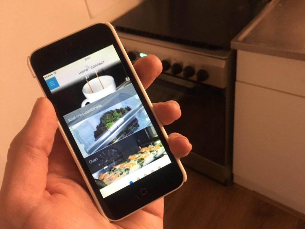 slimme oven werkt vaak via home connect