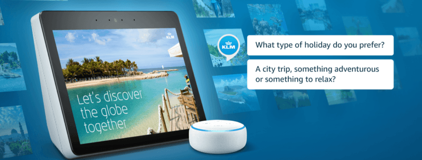 klm alexa speakers travelguide