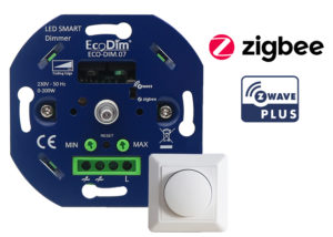 Zigbee-Zwave-led-dimmer-druk-draaiknop-EcoDim