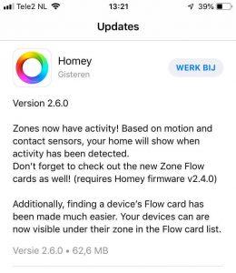 update homey