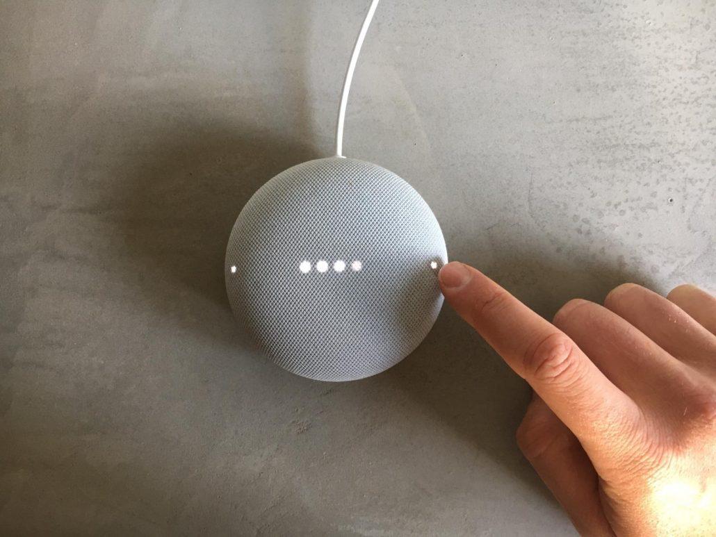 google nest mini lampjes