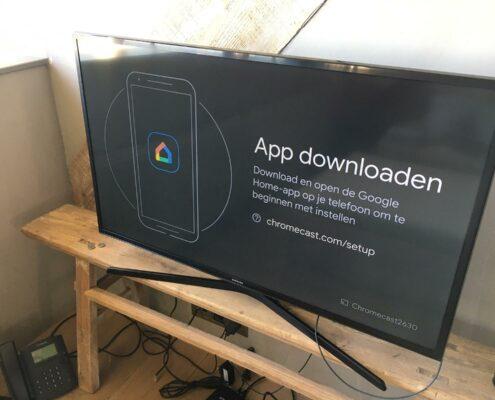 chromecast google tv installeren