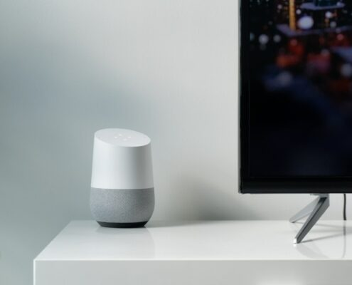 geluid tv via google home