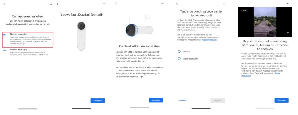 installeren google nest doorbell